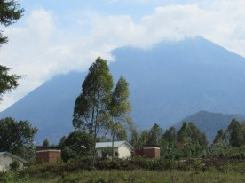 Virunga volcanoes. The largest peak.