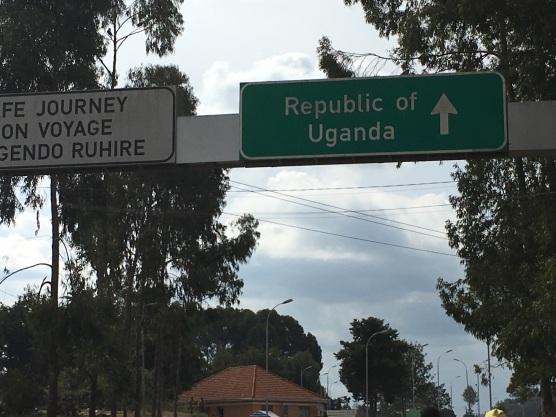 Crossing the Rwandan border into Uganda
